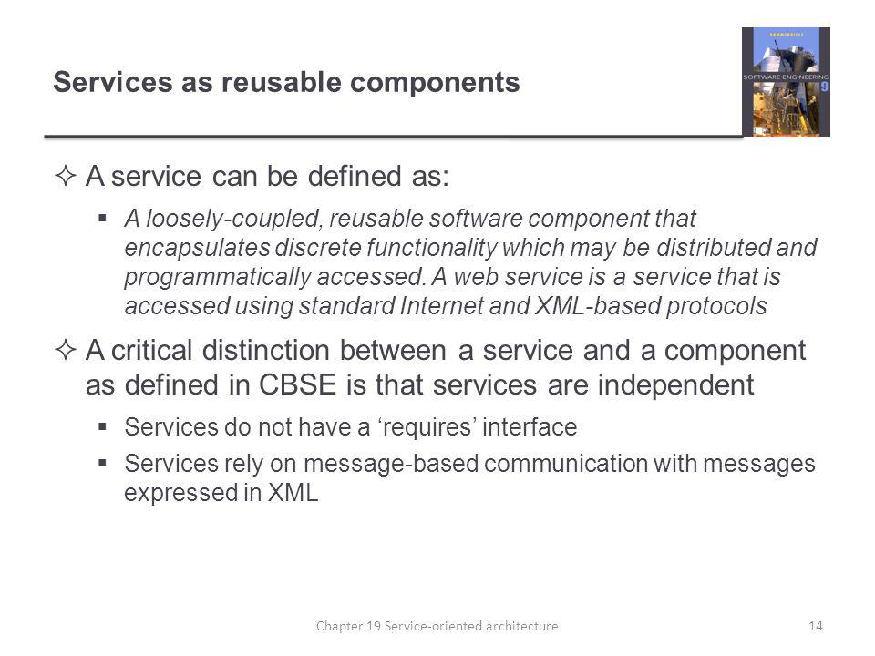 Services as reusable components