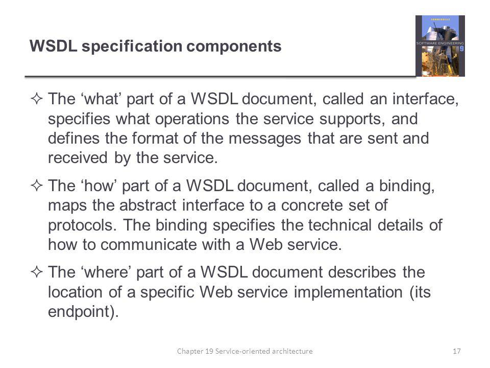 WSDL specification components
