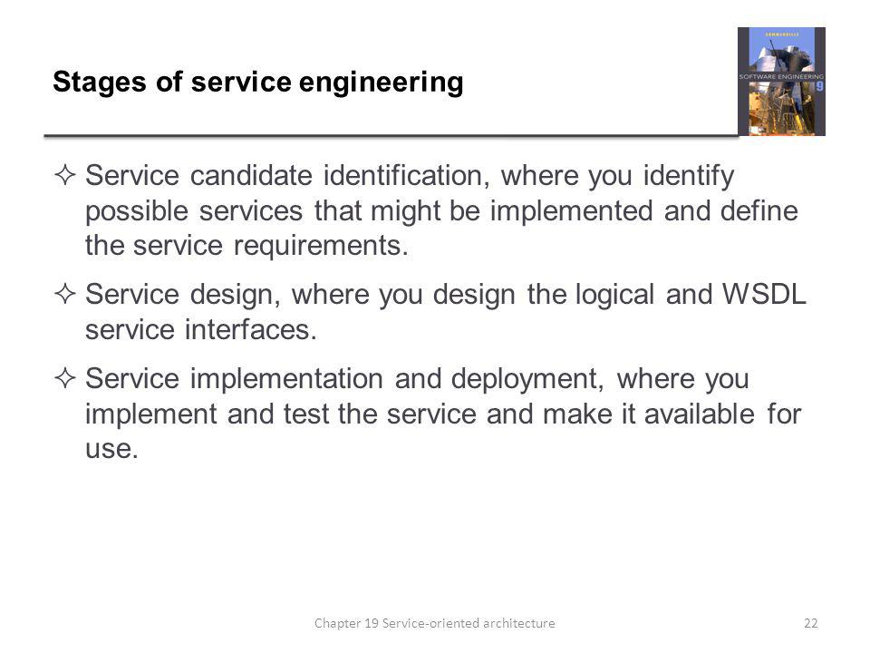 Stages of service engineering