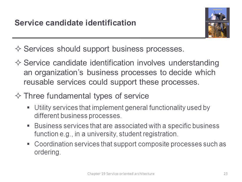 Service candidate identification