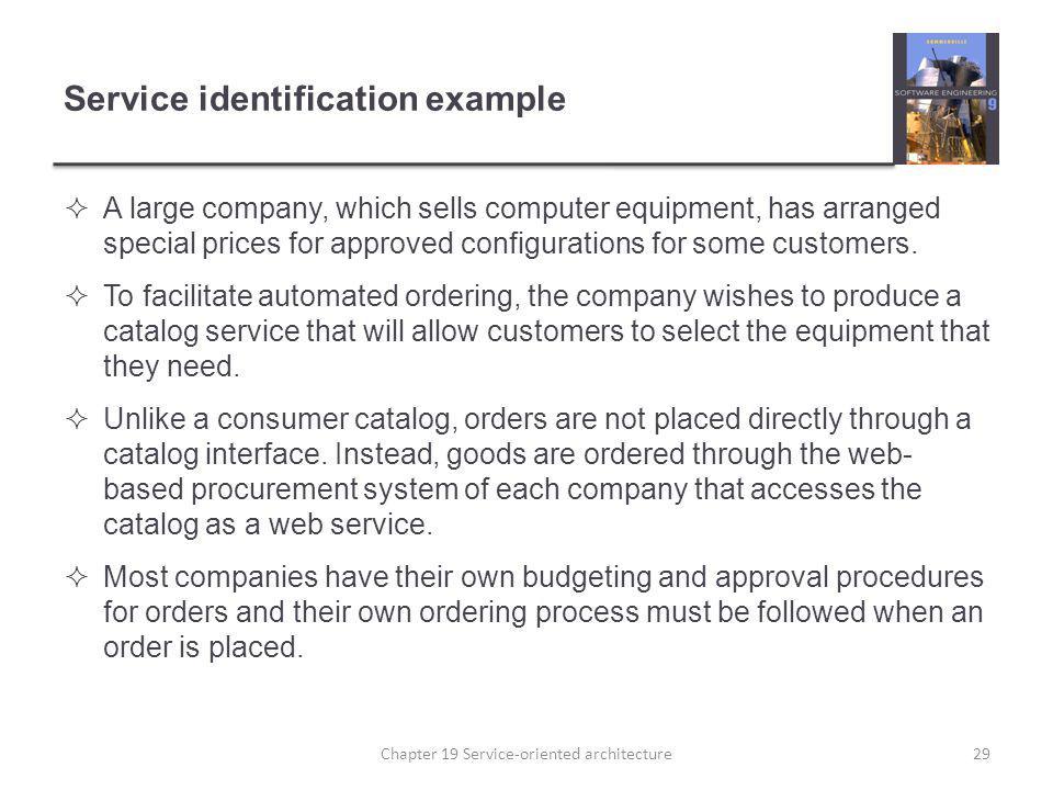 Service identification example