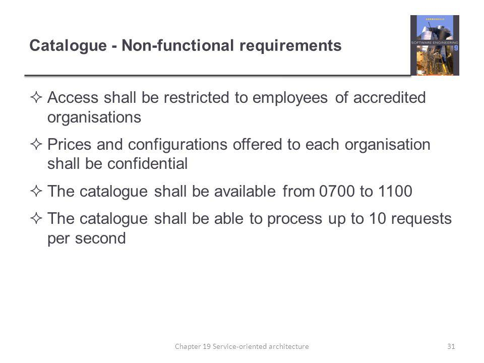 Catalogue - Non-functional requirements