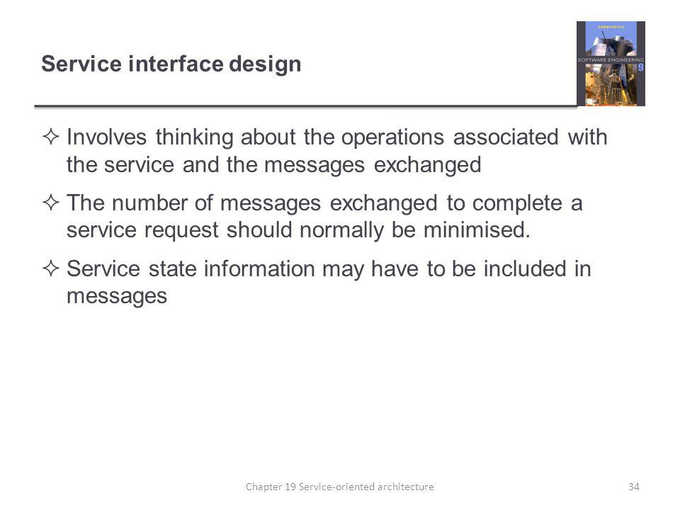 Service interface design