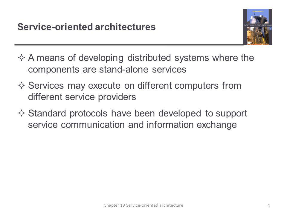 Service-oriented architectures