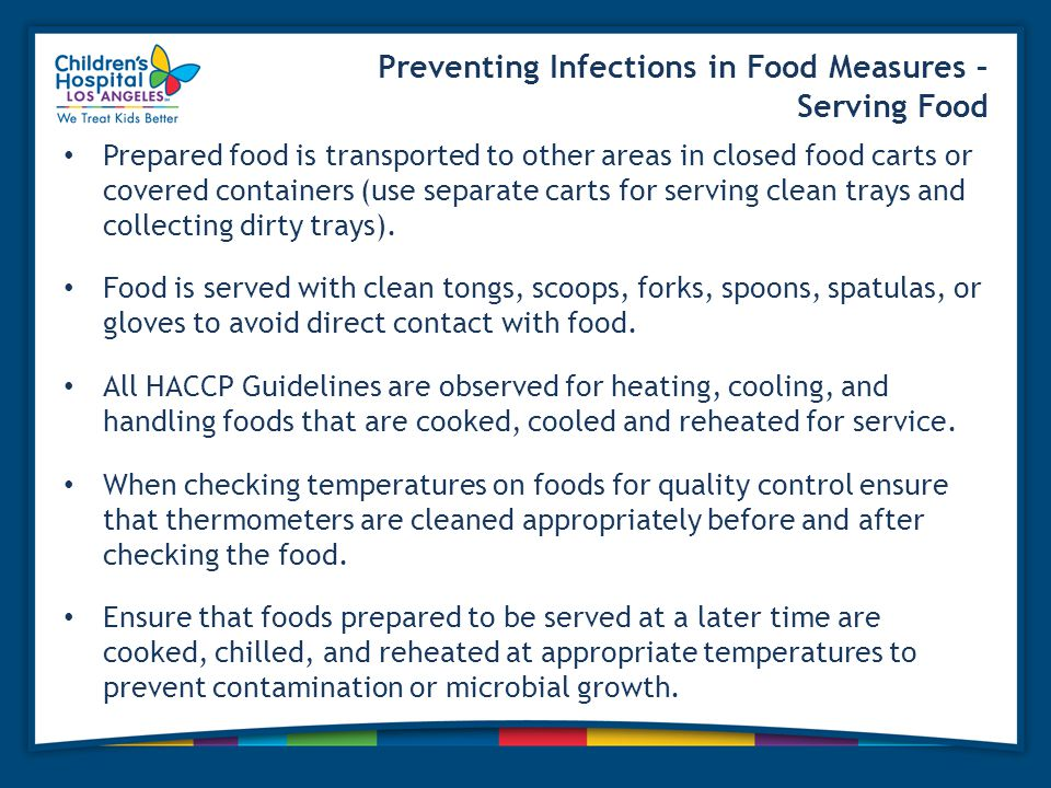 Preventing Infections in Food Measures – Serving Food