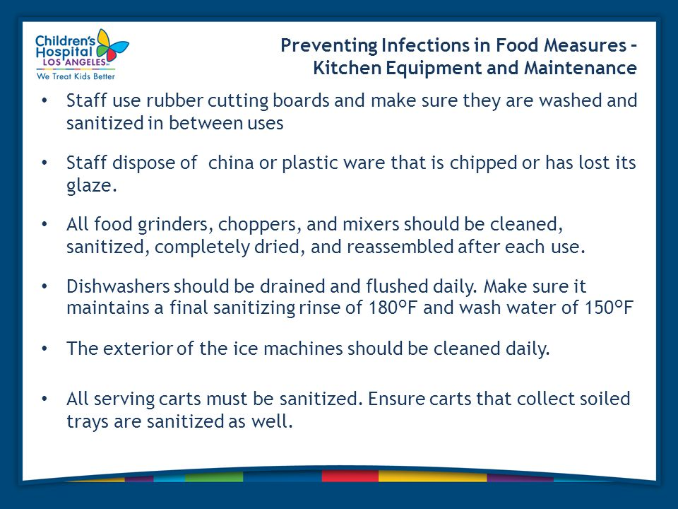 Preventing Infections in Food Measures – Kitchen Equipment and Maintenance