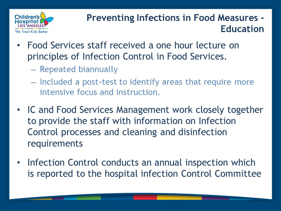 Preventing Infections in Food Measures - Education