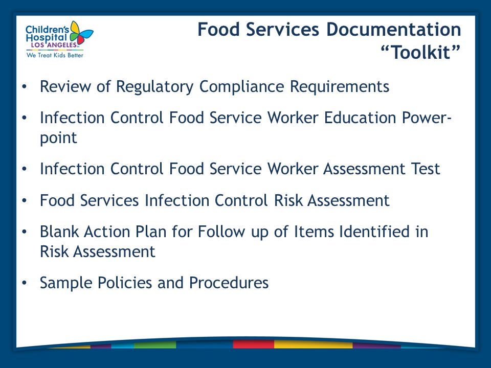 Food Services Documentation Toolkit