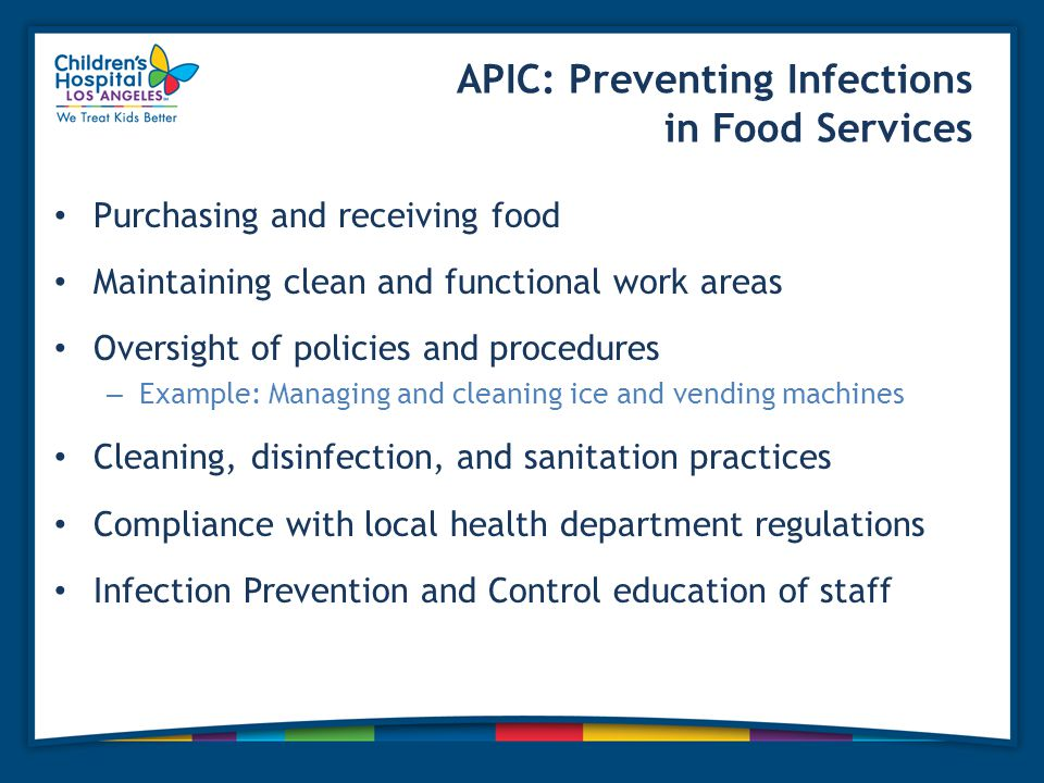 APIC: Preventing Infections in Food Services