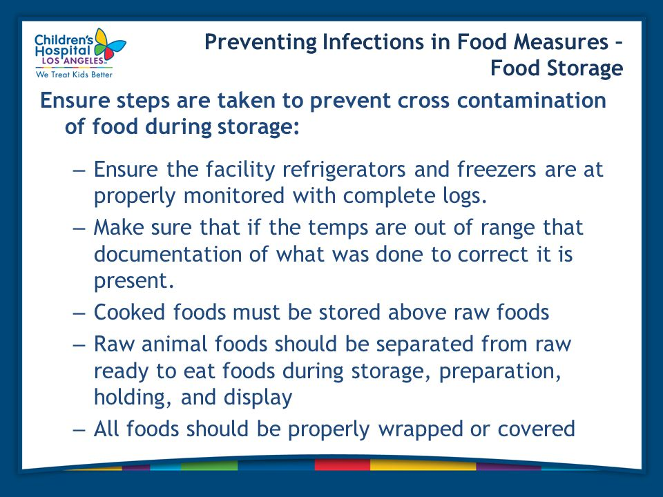 Preventing Infections in Food Measures – Food Storage