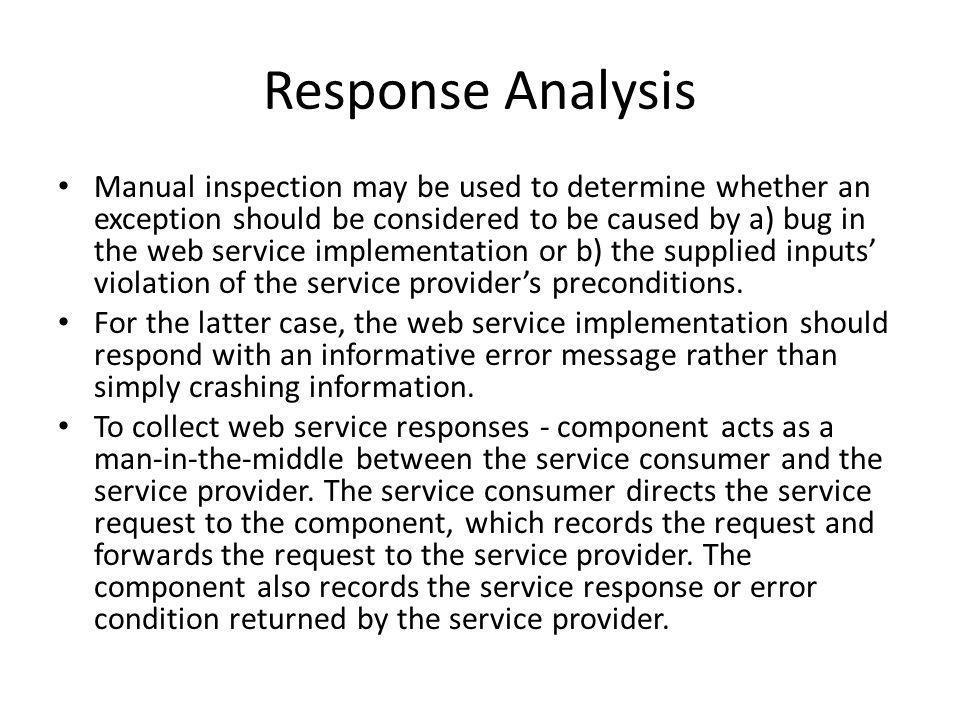 Response Analysis