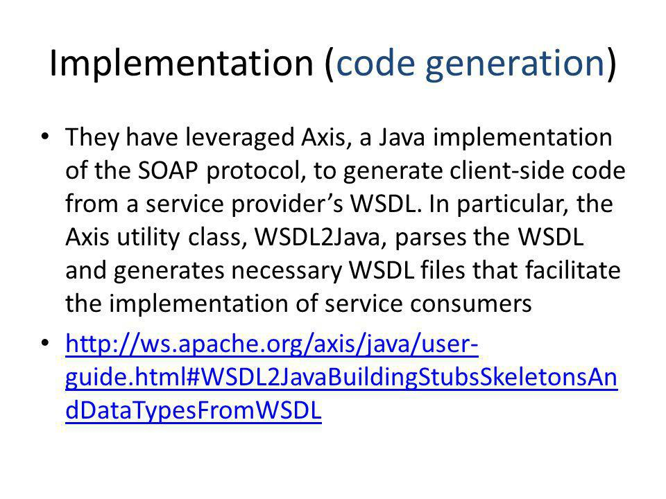 Implementation (code generation)