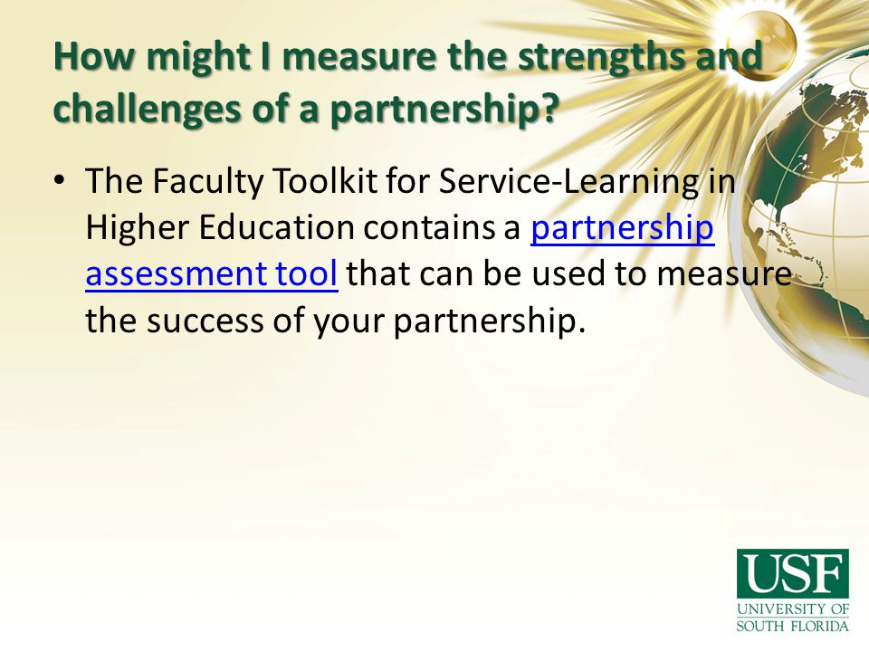 How might I measure the strengths and challenges of a partnership