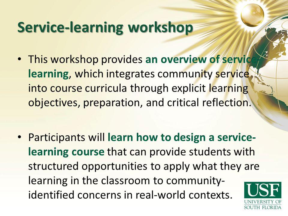 Service-learning workshop