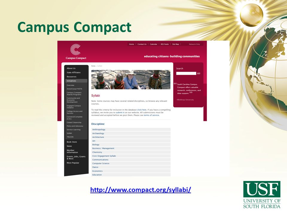 Campus Compact http://www.compact.org/syllabi/