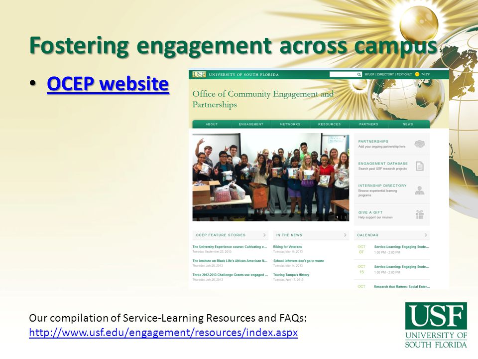 Fostering engagement across campus