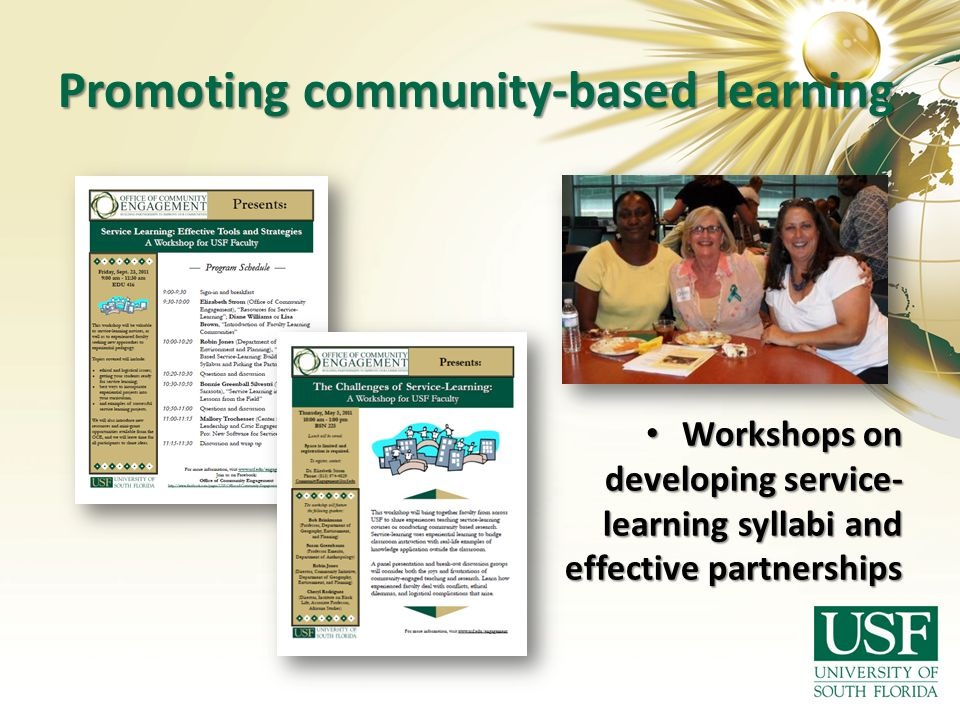 Promoting community-based learning