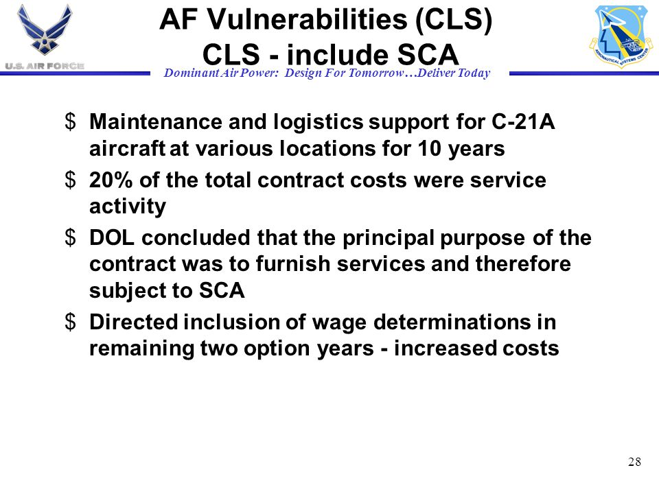 AF Vulnerabilities (CLS) CLS - include SCA
