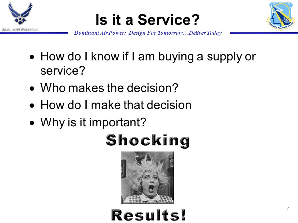 Is it a Service How do I know if I am buying a supply or service