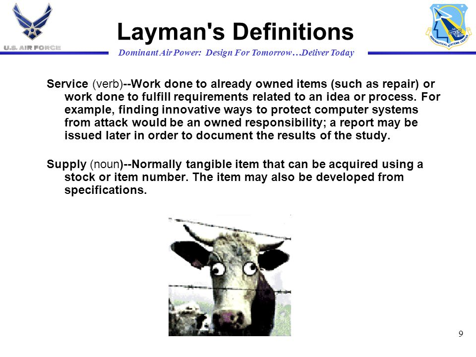 Layman s Definitions
