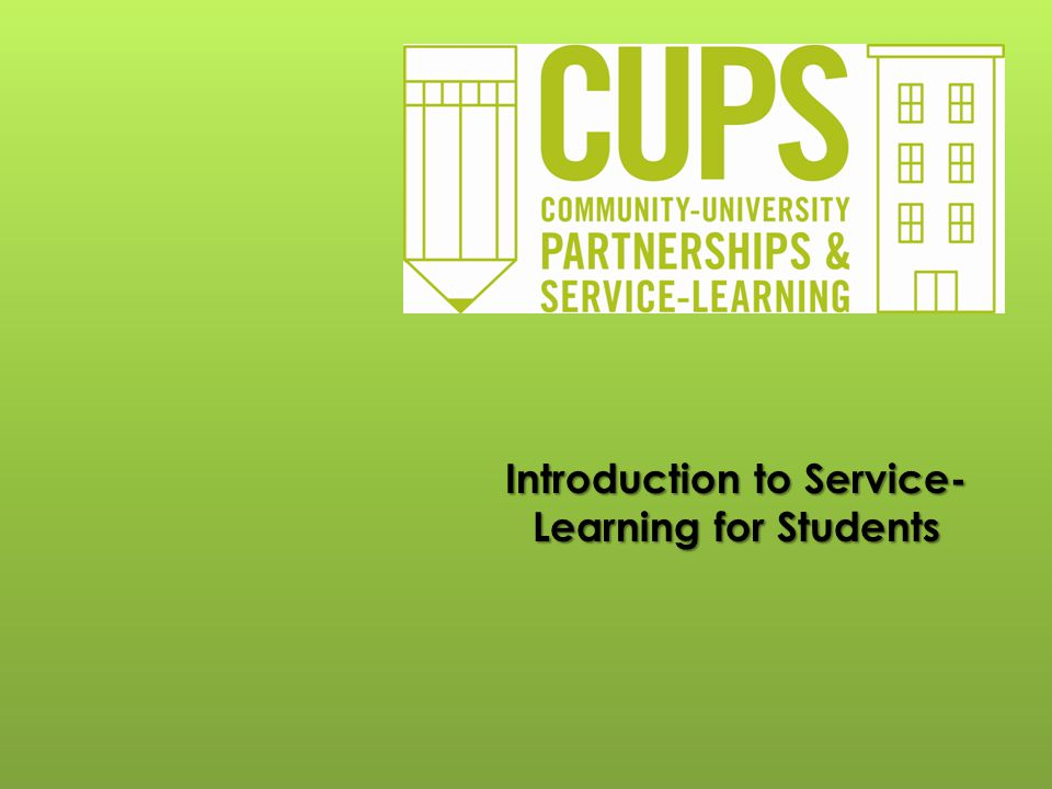 Introduction to Service-Learning for Students