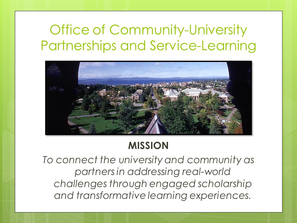 Office of Community-University Partnerships and Service-Learning