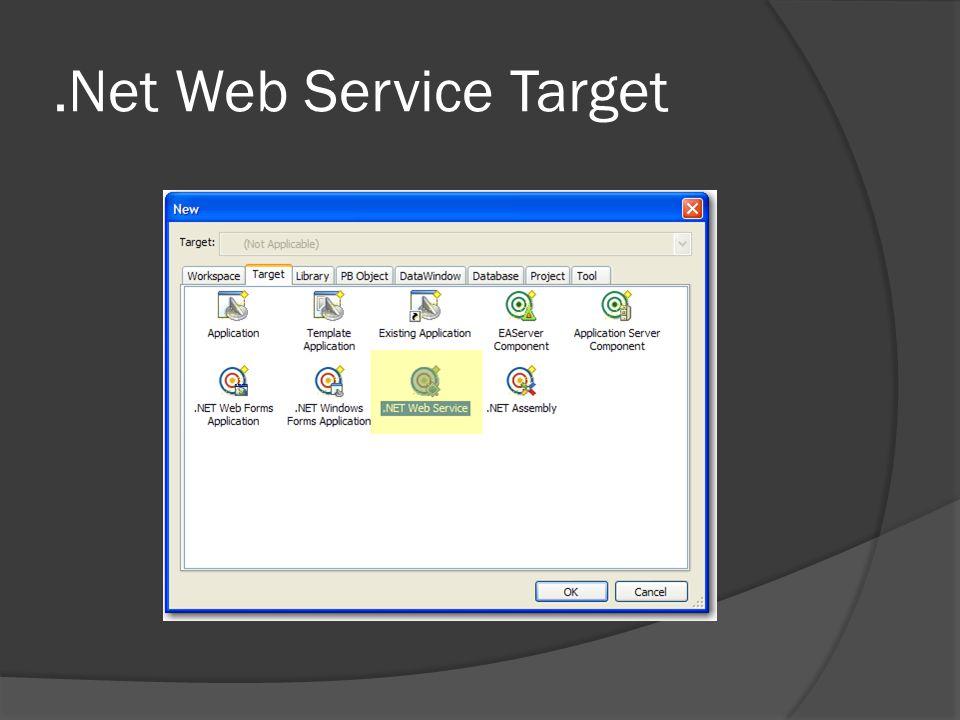 .Net Web Service Target