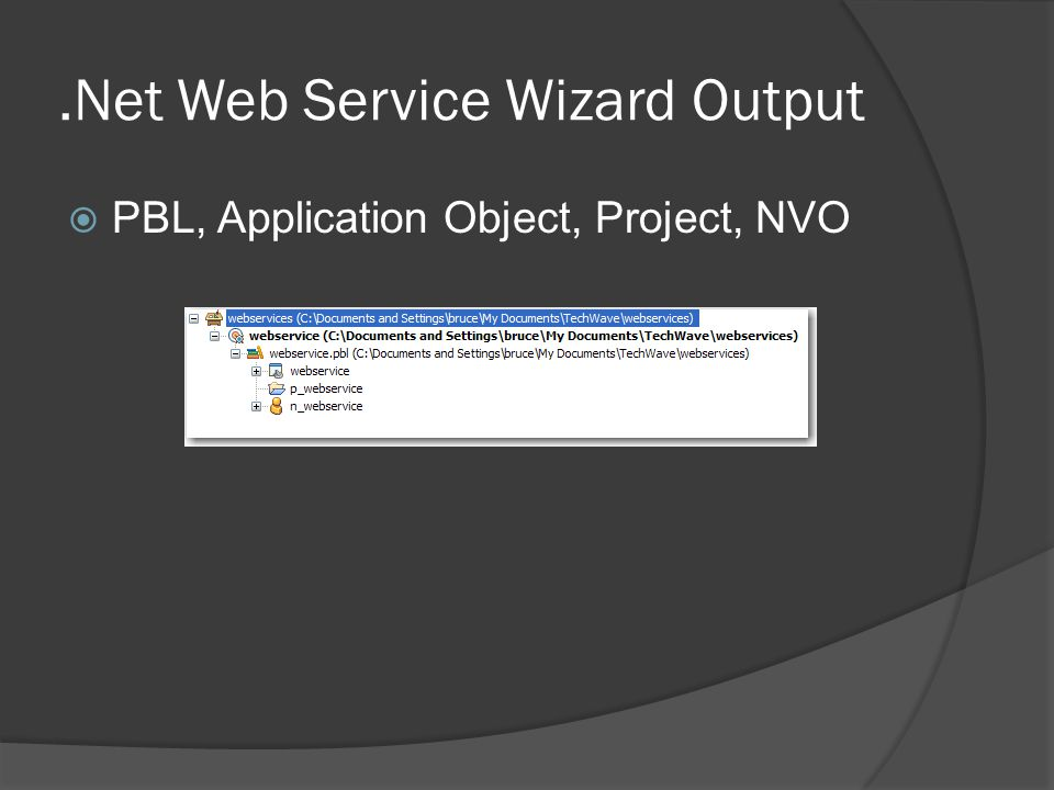 .Net Web Service Wizard Output