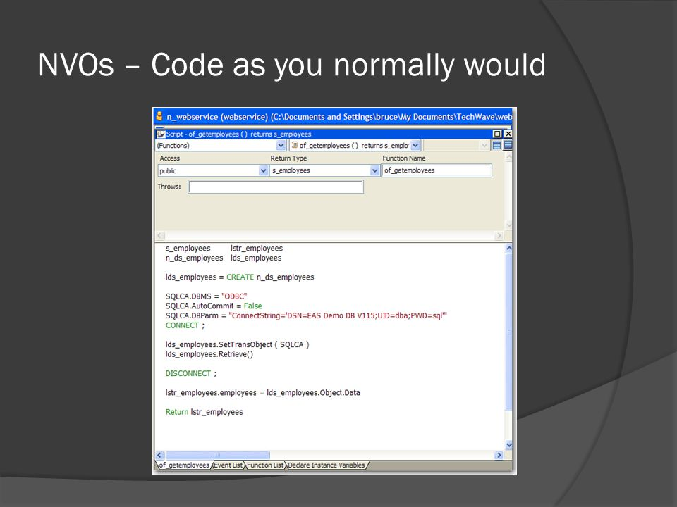 NVOs – Code as you normally would