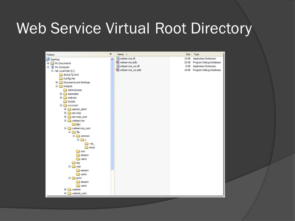 Web Service Virtual Root Directory