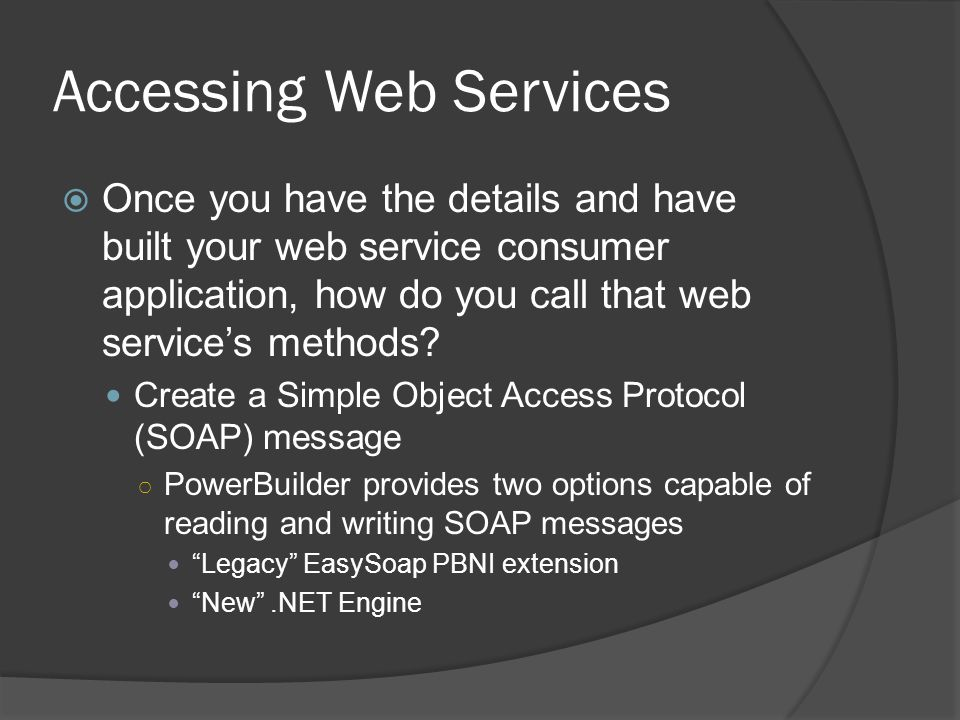 Accessing Web Services