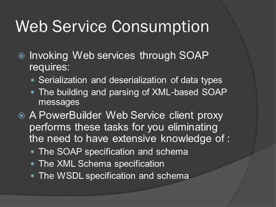 Web Service Consumption