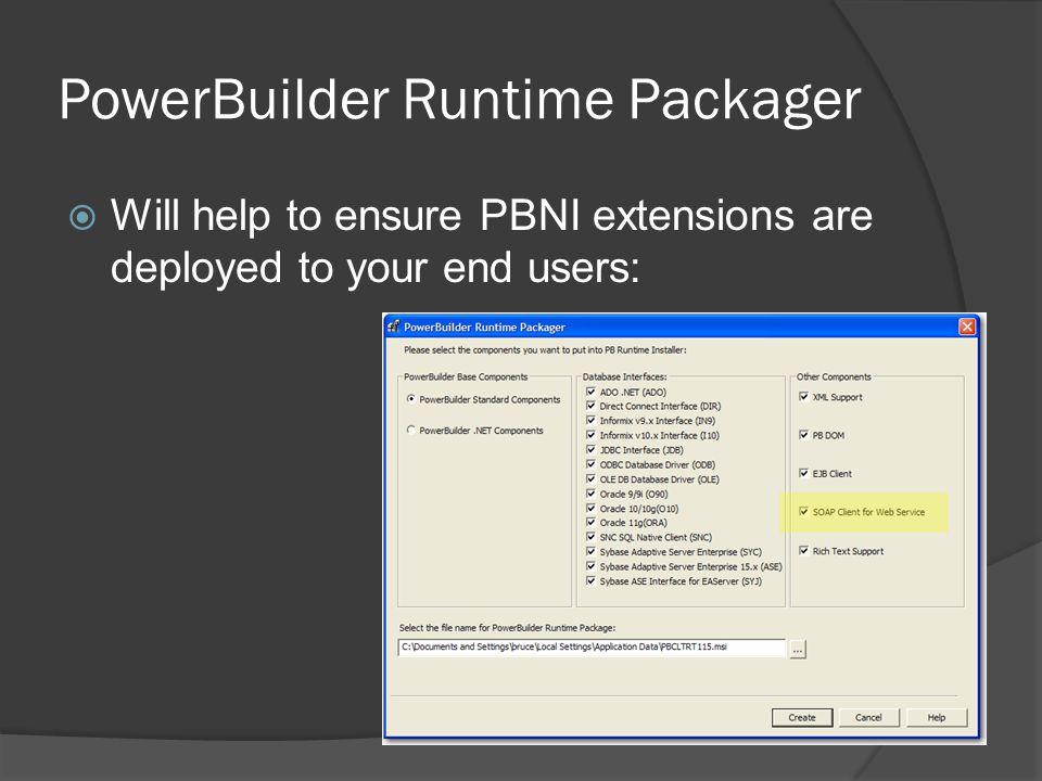 PowerBuilder Runtime Packager