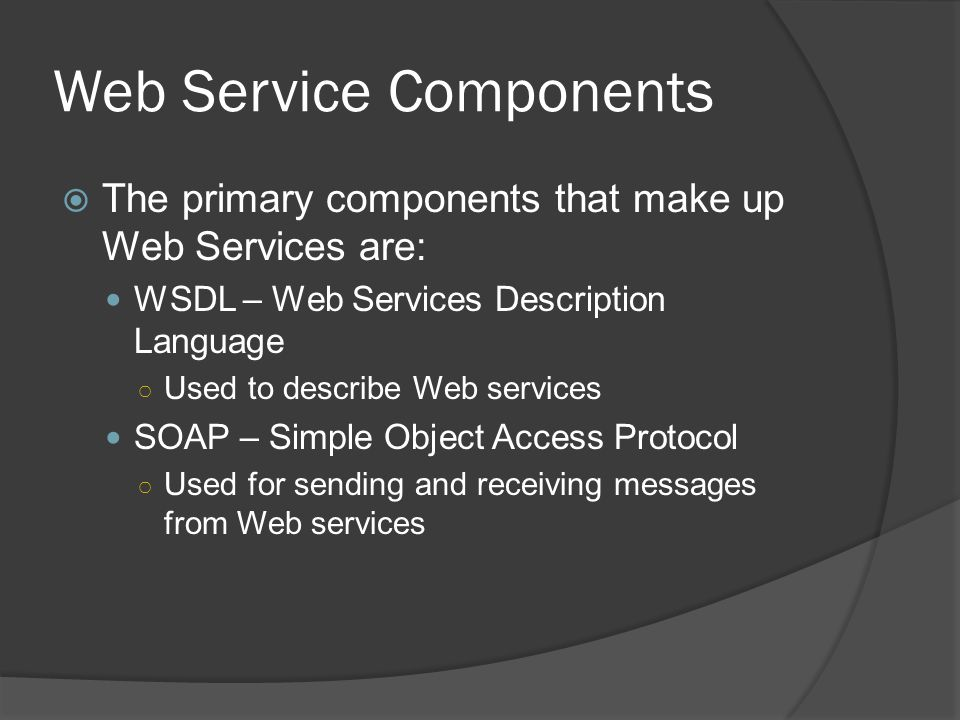 Web Service Components