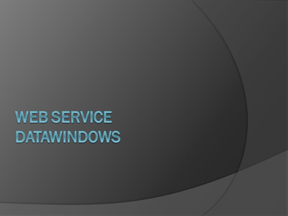 Web Service DATAWINDOWS