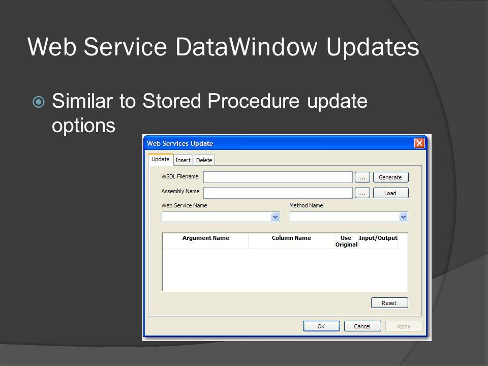 Web Service DataWindow Updates