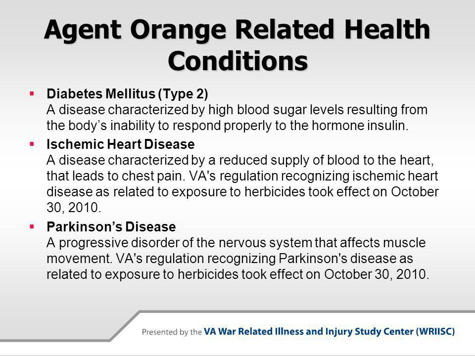 Agent Orange Related Health Conditions