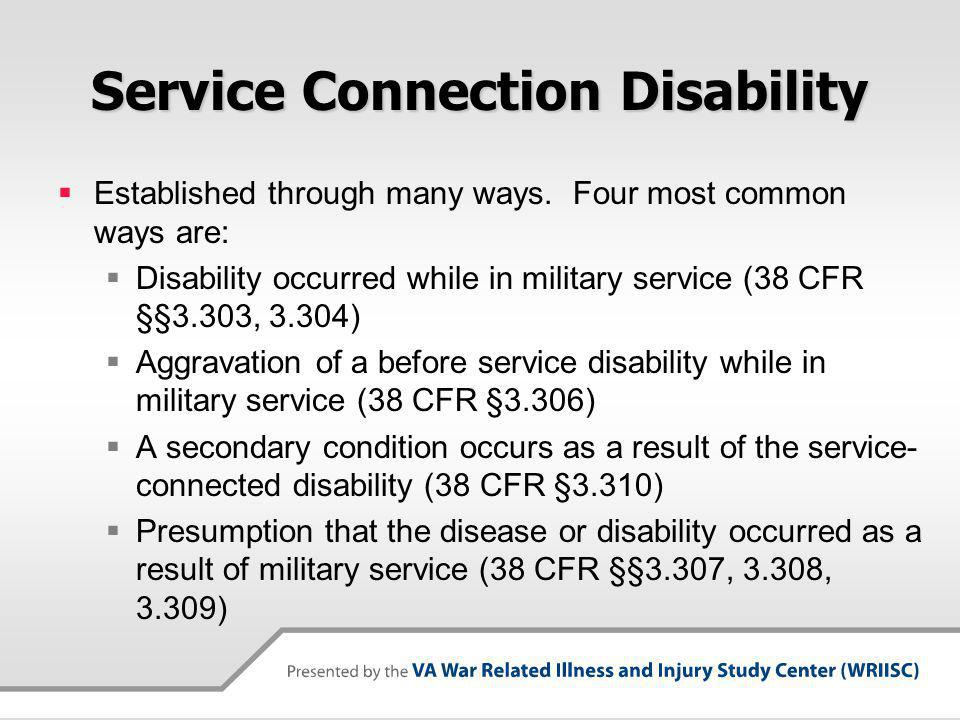 Service Connection Disability