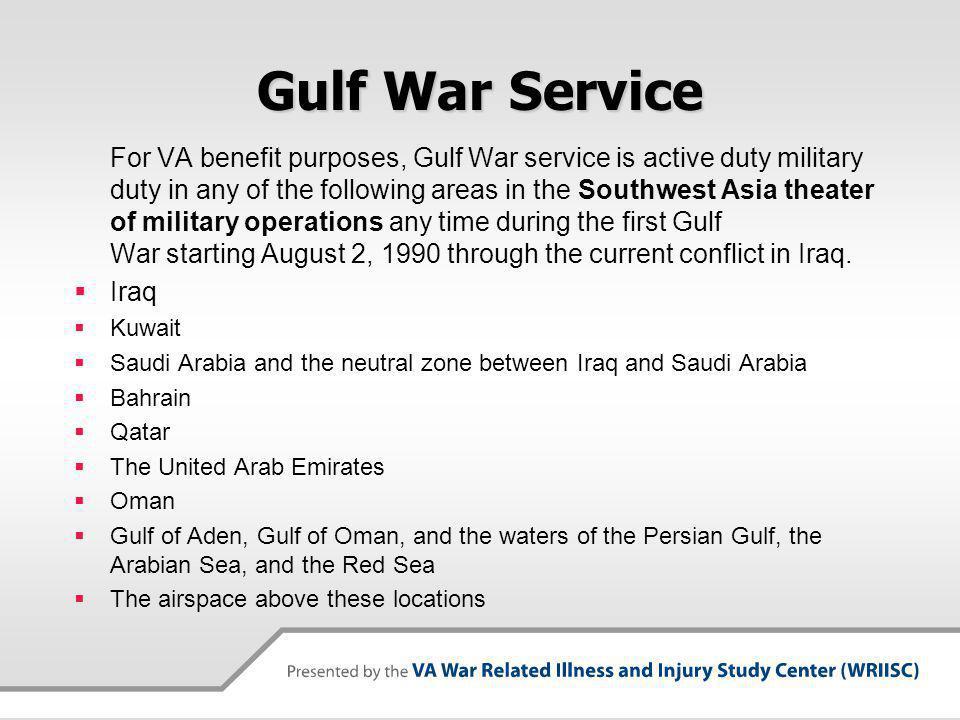 Gulf War Service