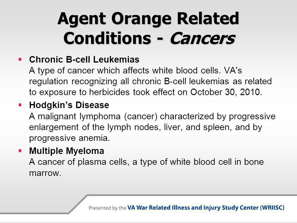 Agent Orange Related Conditions - Cancers