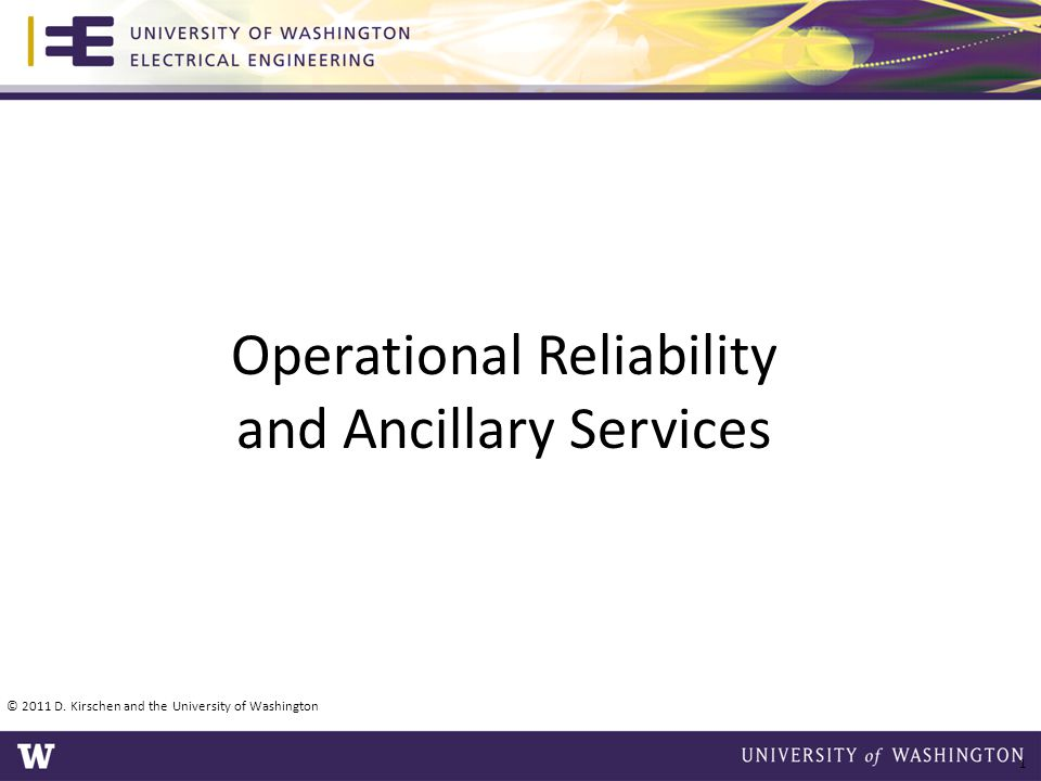 Operational Reliability and Ancillary Services