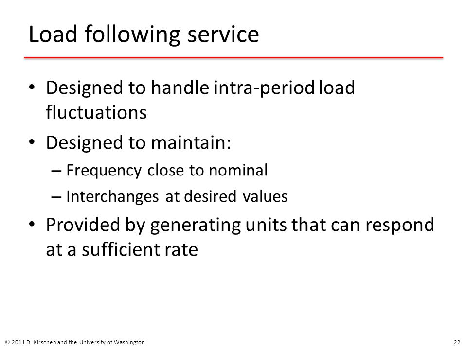 Load following service