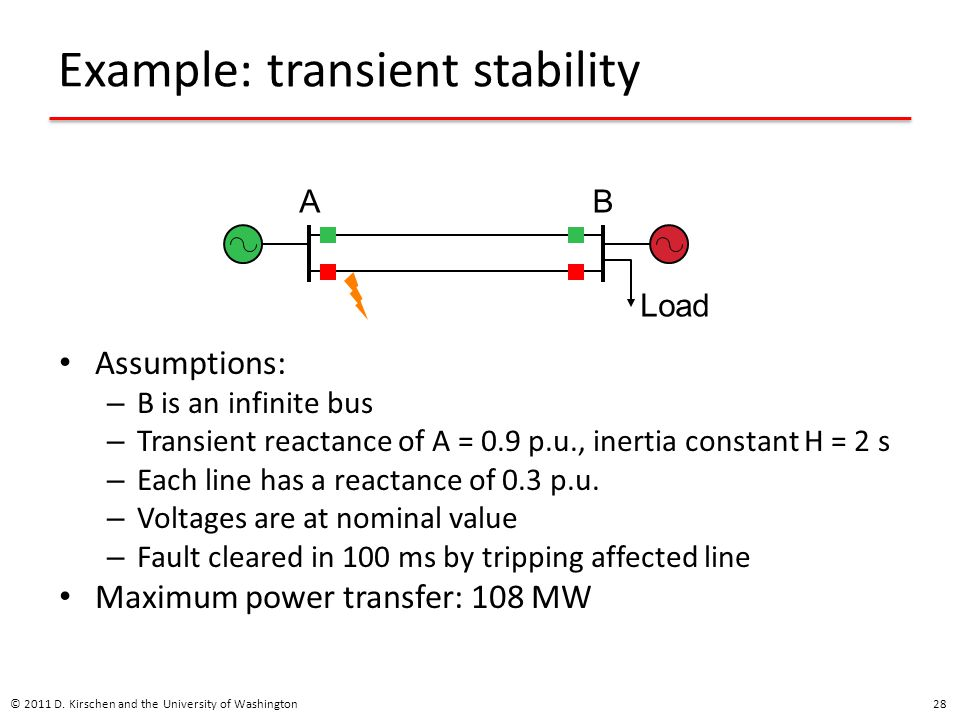 Example: transient stability