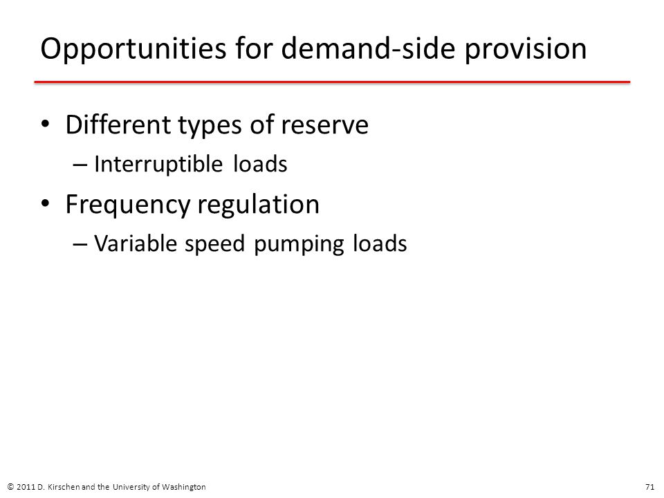 Opportunities for demand-side provision