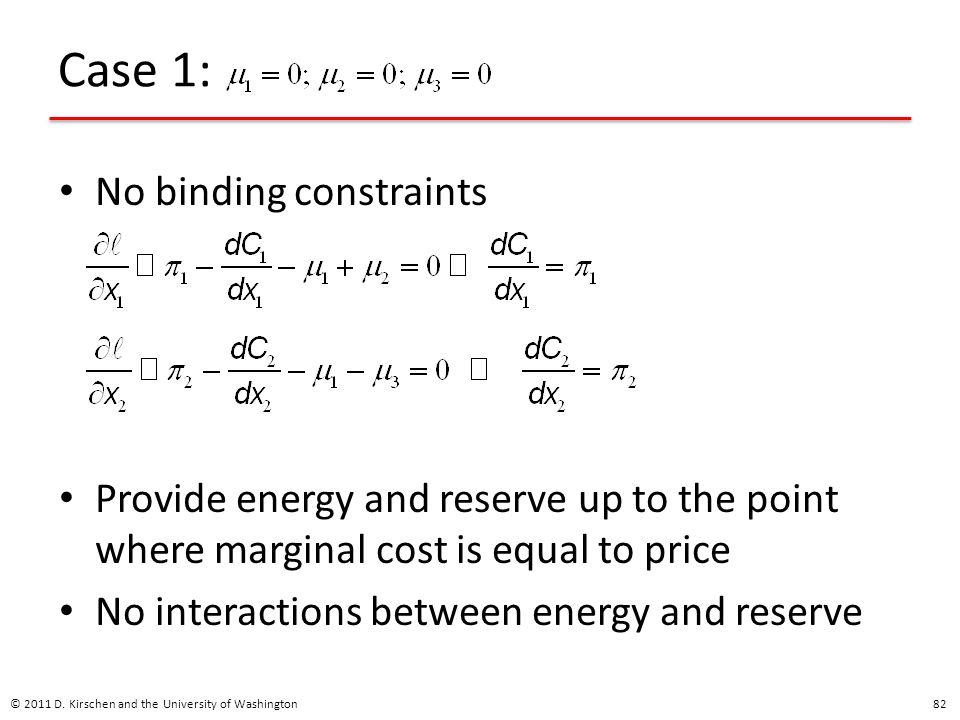 Case 1: No binding constraints