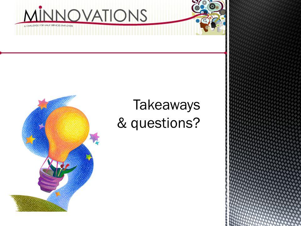 Takeaways & questions