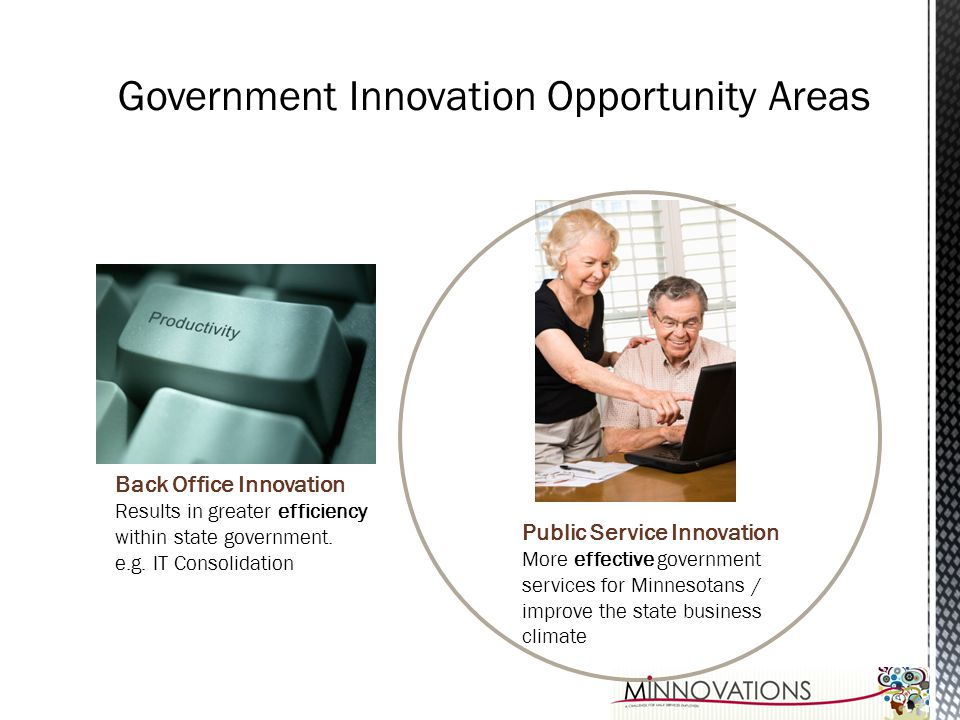 Government Innovation Opportunity Areas
