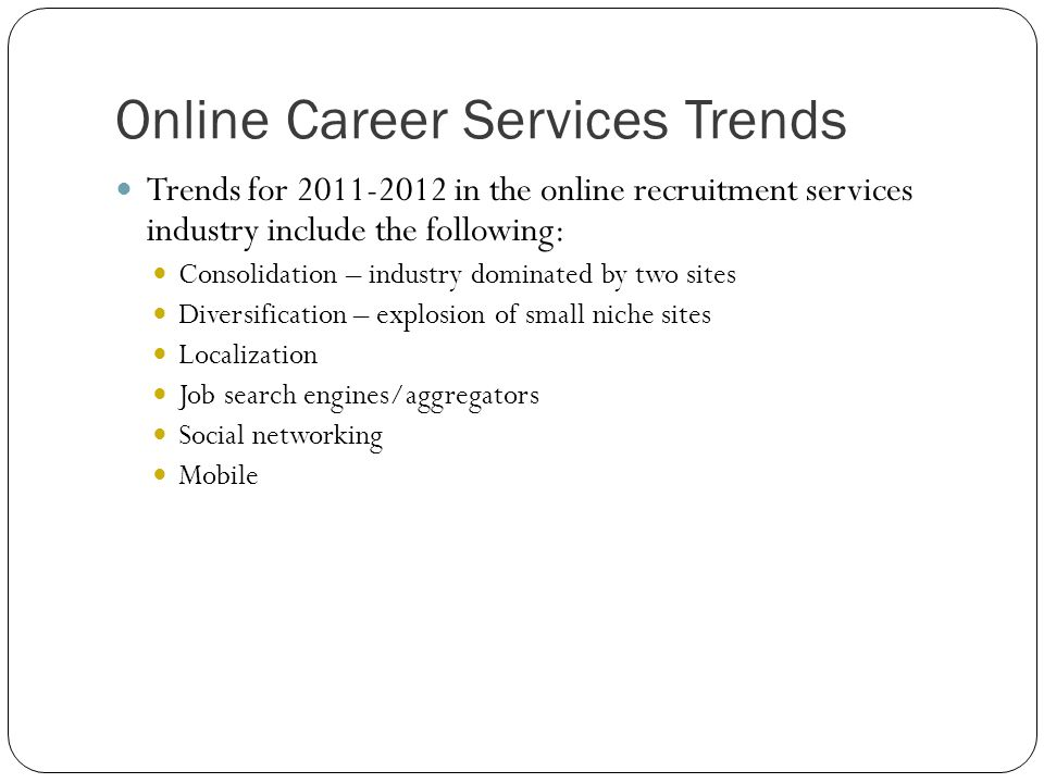 Online Career Services Trends