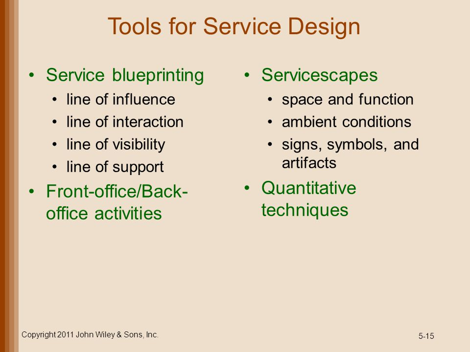 Tools for Service Design