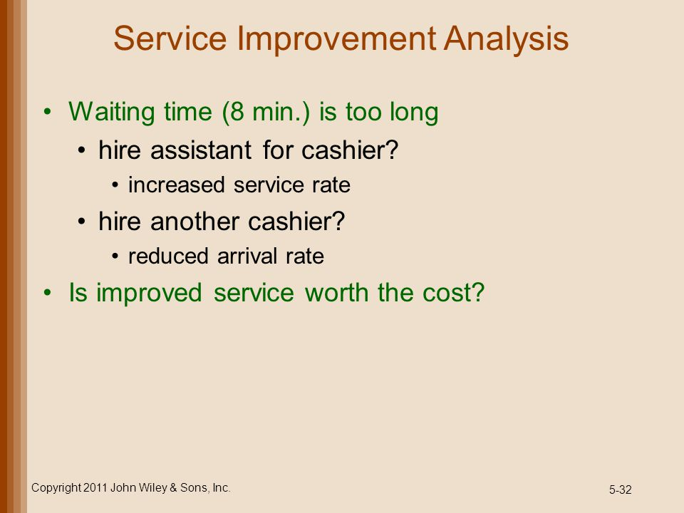 Service Improvement Analysis